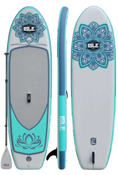 The new ISLE Lotus yoga inflatable SUP is a beauty!